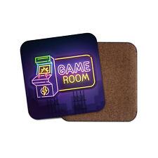 Neon Game Room Sign Coaster - Arcade Gamer Gaming Men's Cool Fun Gift #14767
