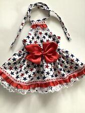 Handmade  4th Off July Summer Doggie Dress Size Medium
