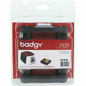 Genuine Evolis Badgy100 / Badgy200 YMCKO Ribbon - CBGR0100C - New