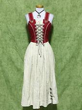 Damen Trachten Mieder Dirndl Größe 36 Farbe Beige - Rot