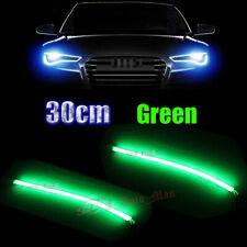 2x 30cm Green Daytime Running Lights Soft Tube LED Strip for Car Motor Headlight