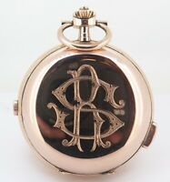 .*Quarter Repeater Chronograph 14K Rose Gold Large 59mm Swiss Pocket Watch