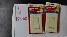 Ace Decorator Switch 31613 3-way ivory Lot of 2