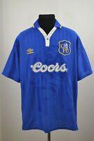 CHELSEA LONDON 1995/1996/1997 HOME FOOTBALL SHIRT JERSEY VINTAGE UMBRO SIZE XL