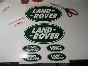 Land rover oval Decal sticker Set.........x6.....