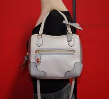 COACH Rare POPPY MINI SATCHEL Gray Leather Convertible Shoulder Bag Purse $250