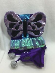 NWOT Ciao Ciao Purple Velour Butterfly Dog Costume XS Extra Small 25247