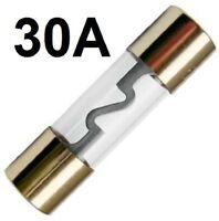 GLAS-Sicherung AGU 30-A GoldLine Vergoldet 30 Amper Hauptsicherung ENDSTUFE