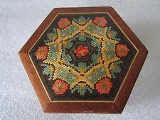 Gorgeous Rare Authentic Antique 1800's Tunbridge Ware Polychrome Wood Box