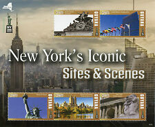 Guyana 2016 MNH New York Iconic Sites NY2016 5v M/S Statue of Liberty Stamps