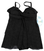 New Swim Solutions Black Flyaway Swimdress Size 10