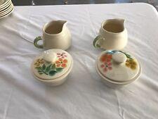 Franciscan Floral Pattern Sugar Bowl w/Lid and Creamer set
