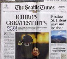 Ichiro Suzuki 259 hits for a single season record--old Seattle Newspaper