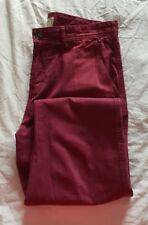 "JasperJ Conran Mens Jeans Size 34R 100%Cotton, Inside Leg 32"", Waist 34"" Maroon"