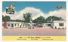 PC Linen finish, EL DON MOTEL, U.S. 66 Hwy, Albuquerque, New Mexico, ca1940s-50s