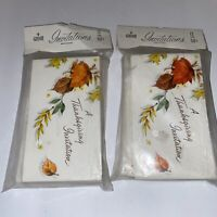 Vintage Gibson Thanksgiving Party Invitations Lot of 2 Packages of 12 Each Fall