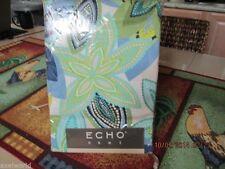 "ECHO ""RIDEAU DE DOUCHE"" FABRIC SHOWER CURTAIN FLORAL PRINT 72x72  NIP RARE"