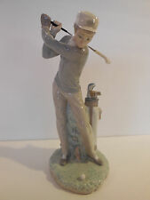 "Lladro #4824 ""Golfer"" Retired Glazed ~ Perfect Gift! No Box"