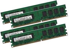 4x 1GB 4GB SAMSUNG RAM Arbeitsspeicher DDR2 800 Mhz PC2-6400U für PC + Desktop