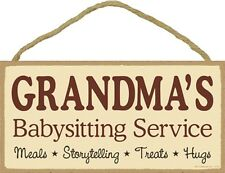 Novelty-Fun Wood Sign-Plaque--Grandma's Baby Sitting Service