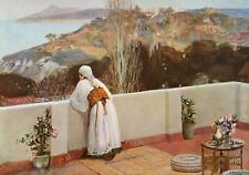 """SIR JOHN LAVERY R.A. 1912 Oil Painting """"EVENING TANGIER"""" 1930 Vintage Book Print"""