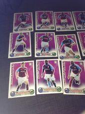 Set Of Aston Villa Topps Match Attax Trading Cards X 18