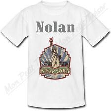 T-shirt Enfant New York Statue de la Liberté avec Prénom Personnalisé