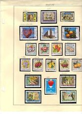 LEBANON 1978 COLL. OF 19 STAMPS W/ THE SECURITY OVPTS