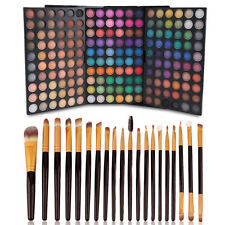 180 Colors Eye Shadow Shimmer Eyeshadow Palette 20Pcs Makeup Cosmetic Brush Set