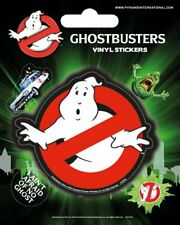 Vinyl Sticker / Aufkleber-Set GHOSTBUSTERS - Logo  1x7,5cm 4x2cm PS7236 NEU