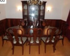 Pennsylvania House Dining Room Set-China Cabinet-Table w/ Leaves-8 Chairs-Cherry