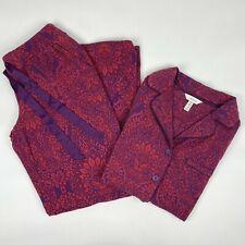 Soma Women's S Pajama Set Button Top Pants Loungewear Pockets Stretchy Sleepwear