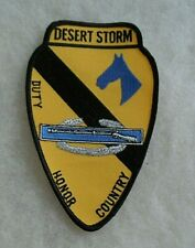 """Desert Storm 1St Cav With Cib, Blue Horse Head & """"Duty Honor Country"""" On Patch"""