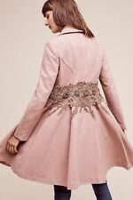 ELEVENSES ASTORIA COAT rose mauve lace embroidered floral jacket Anthropologie 2
