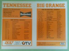 1988 Tennessee Volunteers college football basketball NCAA Pocket Schedule VOLS