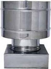 Comignolo Antivento Fumaiolo a base quadrata 25x25 cm in Acciaio Inox Europrofil