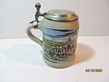 """New listing Munchen Beer Stein Lidded 6"""" Pewter Handle And Lid Germany"""