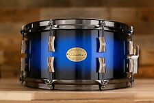 NOBLE & COOLEY 13 X 6.5 CD MAPLE SNARE DRUM, BLUE SPARKLE BURST GLOSS WITH BLACK
