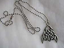 """PEWTER CELTIC  PENDANT 23"""" BALL CHAIN NECKLACE,BPC,SEAHORSE MARK"""