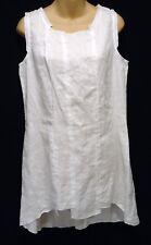 6f3d3049d4b Stella Carakasi Small Dress 100% Linen Sleeveless White Pieced