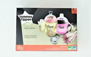 Tommee Tippee|Closer To Nature - Newborn To Toddler Girl Transition Kit 0m+/3m+