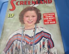 Screenland Magazine Shirley Temple Rare Cover Photo 1939 Gone With The Wind