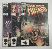 New Mutants # 22, 23, 24 (Lot of 3 books) [ Marvel Comics 1985 ]