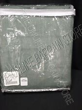 "1 Pottery Barn West Elm Burlap Curtains 44x84"" Green Drapes Panels Blue Sage"