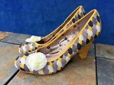 POETIC LICENCE Rose Bow & Polka Dots Pumps Wedges High Heels Shoes Womens Size 9
