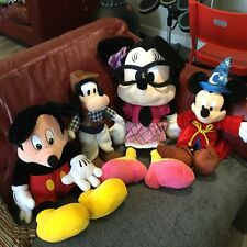 Large Bundle of Disney Soft Plush toys. Mickey,Minnie,Goofy, Job Lot Authentic