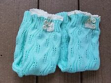Leg Warmers, Knitted Leg Warmers, Leg Warmer Set, Christmas Gift,- MINT