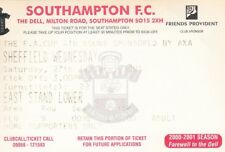 Ticket - Southampton v Sheffield Wednesday 27.01.01 FA Cup