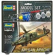 Ah-64a Apache Helicopter Set 1:100 Plastic Model Kit REVELL