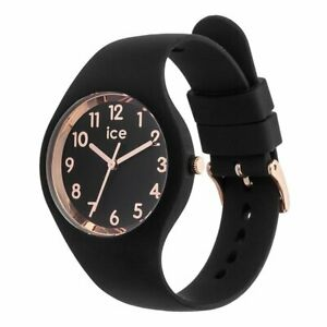 Ice-Watch - ICE glam Black Rose-Gold Numbers - Women's wristwatch with silicon s
